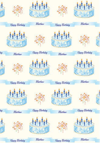 Personalised Wrapping Paper Birthday 8