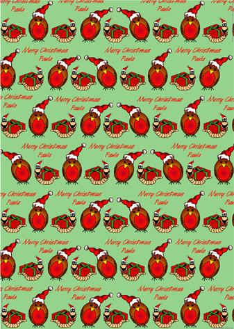 personalised wrapping paper christmas1